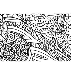 beautiful coloring book page with abstract art vector image