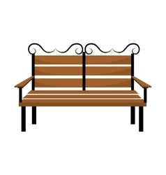 Bench or wooden chair icon design vector