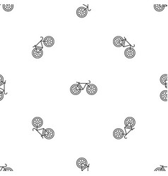 bicycle pattern seamless vector image