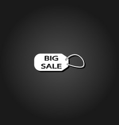 big sale taf icon flat vector image