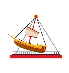 Boat swing icon cartoon style vector image