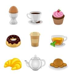 Breakfast icon set vector