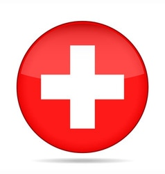 Button with flag of Switzerland vector