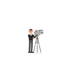 cameraman entertainment industry movie making vector image