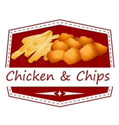 Chicken and chips vector