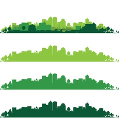 Cityscape wide vector