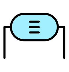Electrical resistor icon color outline vector