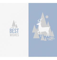 Elegant winter design with deer vector