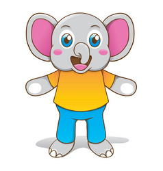 elephant animal mascot vector image
