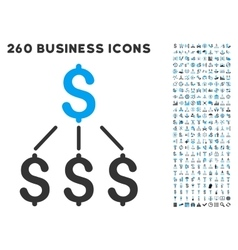 financial structure icon with flat set vector image