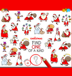 Find one of a kind christmas character vector