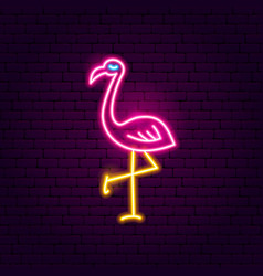 flamingo neon sign vector image