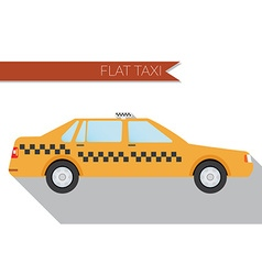 Flat design city Transportation city taxi side vector image
