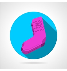 Flat icon for pink socks vector image
