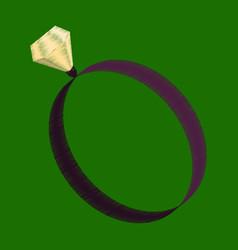 Flat shading style icon engagement ring vector