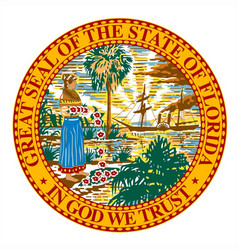 florida state seal vector image