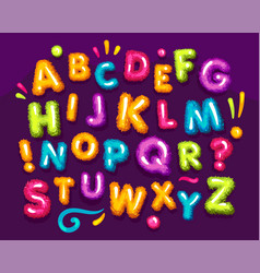 Fluffy color font vector