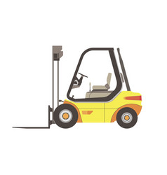 forklift icon truck warehouse isolated lift cargo vector image