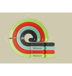 Four infographic with a circular motion vector