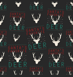 funny christmas seamless pattern graphic print vector image