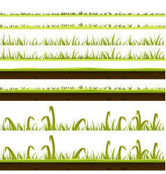 grass and lawn layers set vector image