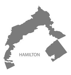 Hamilton bermuda map grey vector