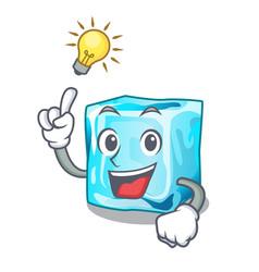 Have an idea ice cubes on the cartoon funny vector