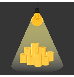 Have idea have money Idea is money Idea concept vector image