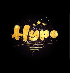 Hype star golden color word text logo icon vector