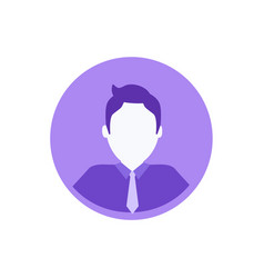 male anonymous avatar person userpic web profile vector image