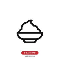 mashed potato icon vector image