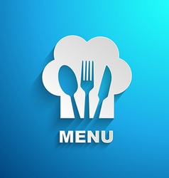 menu chef paper effect vector image