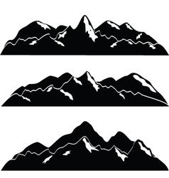 mountainscape vector image