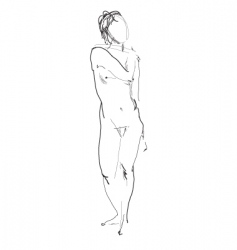nude model sketch vector image
