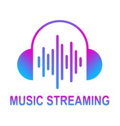Online media streaming music audio wave vector