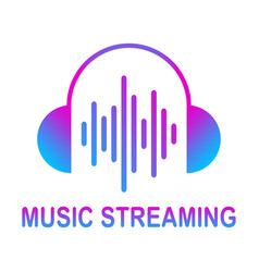 online media streaming online music audio wave vector image