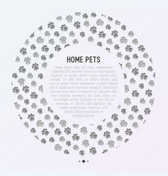 pet paws concept in half circle vector image