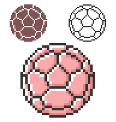 pixel icon soccer ball european football in vector image
