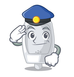 Police urinal isolated with in the mascot vector