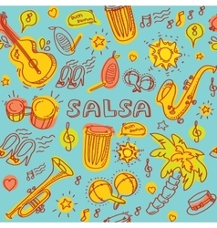 Salsa cuban music and dance vector