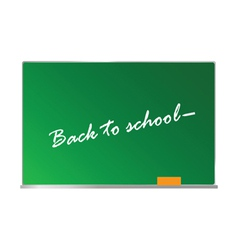 School board with message on it vector