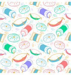 Seamless background pillows vector