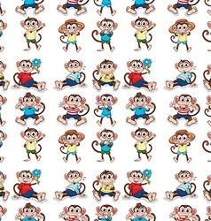 Seamless monkeys vector image