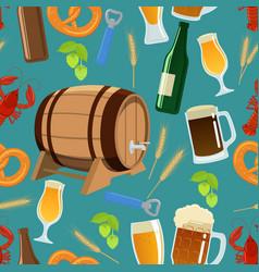 seamless pattern of beer vector image