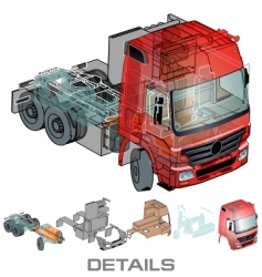 semi truck info graphics vector image
