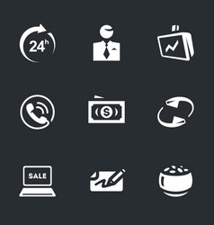 set of broker work icons vector image