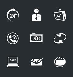 Set of broker work icons vector