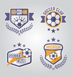 soccer isolated emblems or logos part 3 vector image