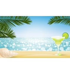 Summer seascape blur bokeh vector