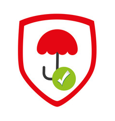 Umbrella protection symbol icon vector